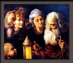 Diogenes and members of the tribe.