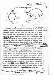 Nabokov's notes on Kafka, with bug.