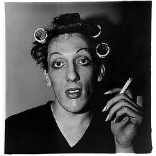 Young Man in Curlers at Home on West 20th Street, NYC