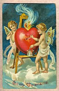 Antique Valentine's Day Card (1909)