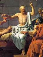 Socrates takes the hemlock.