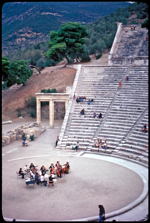 A concert in ancient arena, Greece