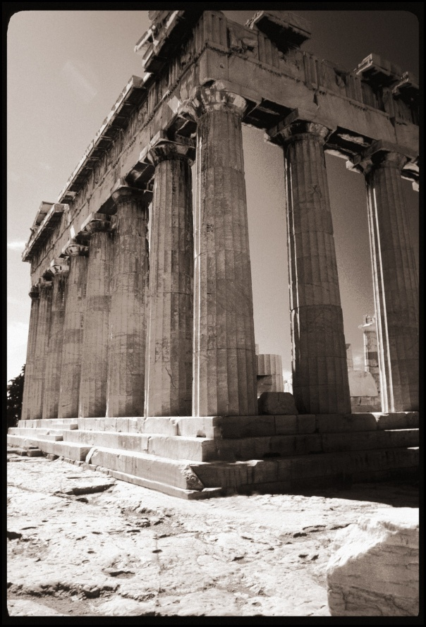 Corner shot of the Parthenon, Athens